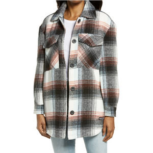 Hurley Oversized Soft Plaid Flannel Shacket